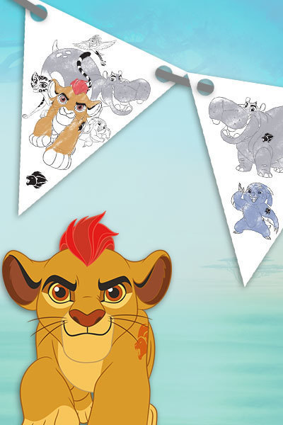 Bandierine The Lion Guard per la festa