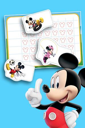 De activiteitengrafiek van Mickey Mouse
