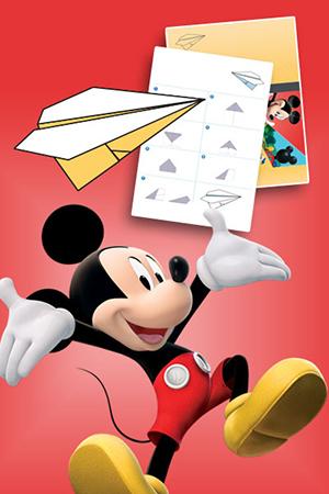 Mickey - Avión de papel