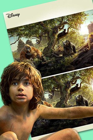 El Libro de la Selva - Busca las 5 diferencias