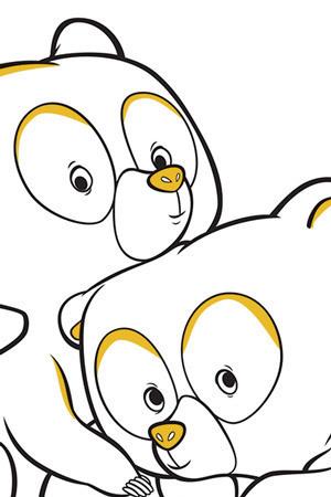 Σελίδα για χρωμάτισμα μικρής αρκούδας