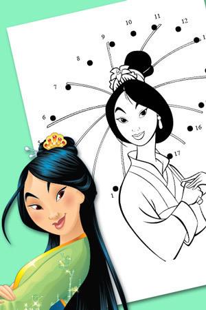 Łączenie kropek z Mulan