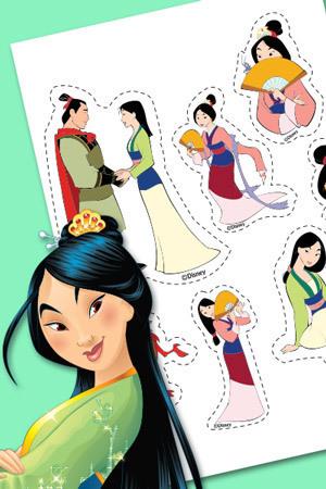 Naklejki z Mulan