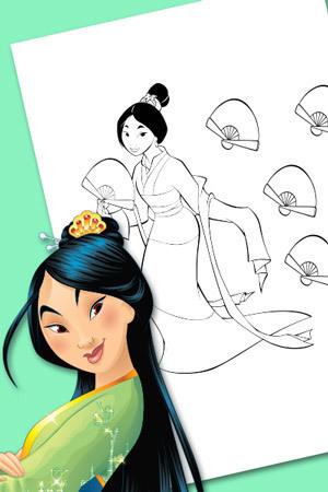 Mulan telt de waaiers