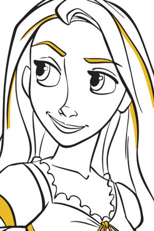Rapunzel Colouring Page 2