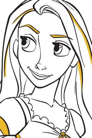 Rapunzel – färgläggningsblad 2