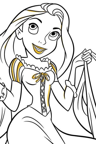 Rapunzel – färgläggningsblad 4
