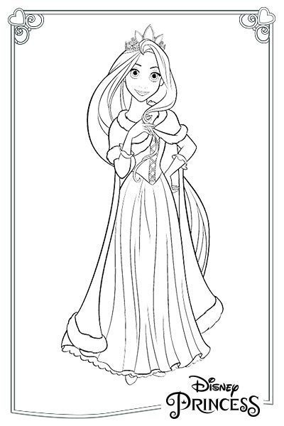 Rapunzel con la corona
