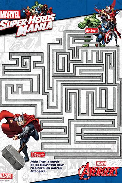 Cahier d'activités Avengers