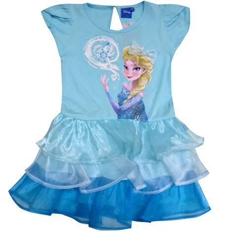 ชุดกระโปรงเจ้าหญิงเอลซ่าสีน้ำเงิน