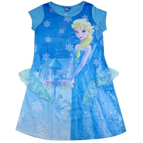ชุดกระโปรงลายหิมะสีน้ำเงินเจ้าหญิงเอลซ่า