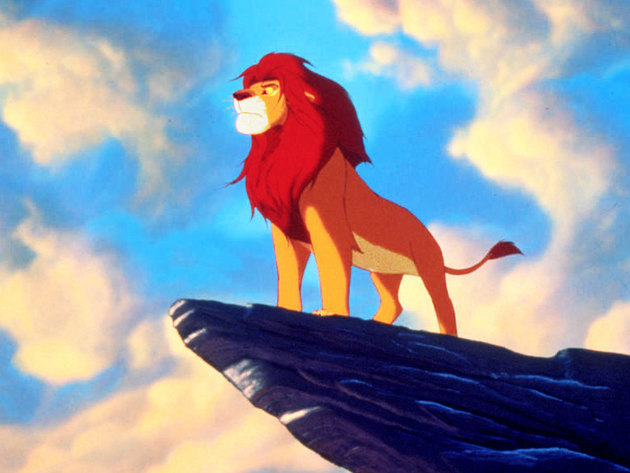 Simba takes his rightful place as the king of Pride Rock.
