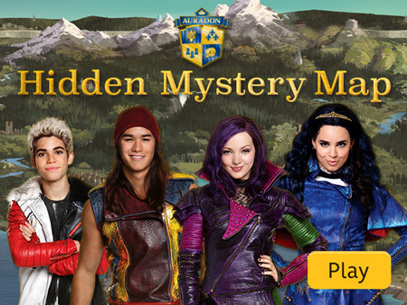 Auradon Hidden Mystery Map