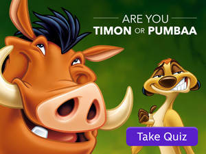Quiz: Are you Timon or Pumbaa?