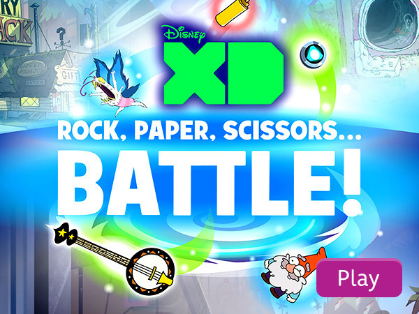 Disney XD Rock, Paper, Scissors...Battle!