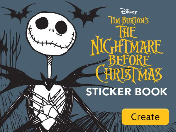 Nightmare Before Christmas Sticker Book