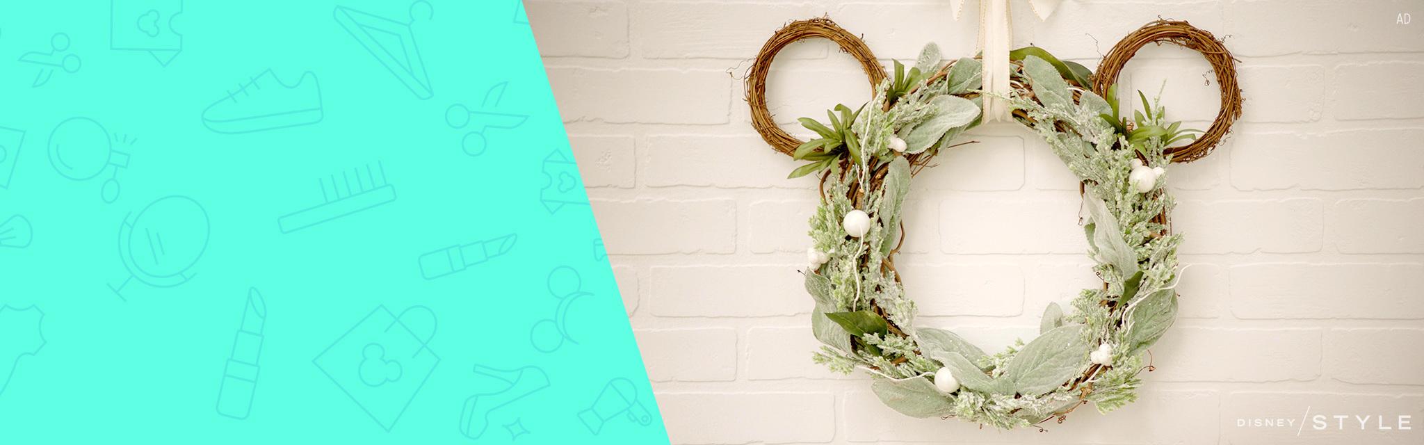 Disney Style - DIY Mickey Wreath - Hero