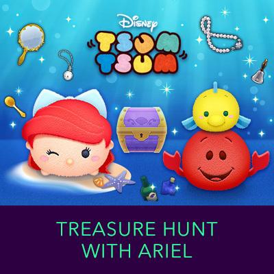 Tsum Tsum - Little Mermaid Treasure Hunt