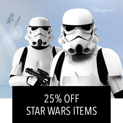 25% Off and Free Shipping on Star Wars