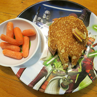 Grilled Cheese and Ham Solo Sandwich