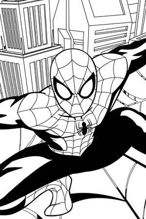 Spidey's Web Coloring Page