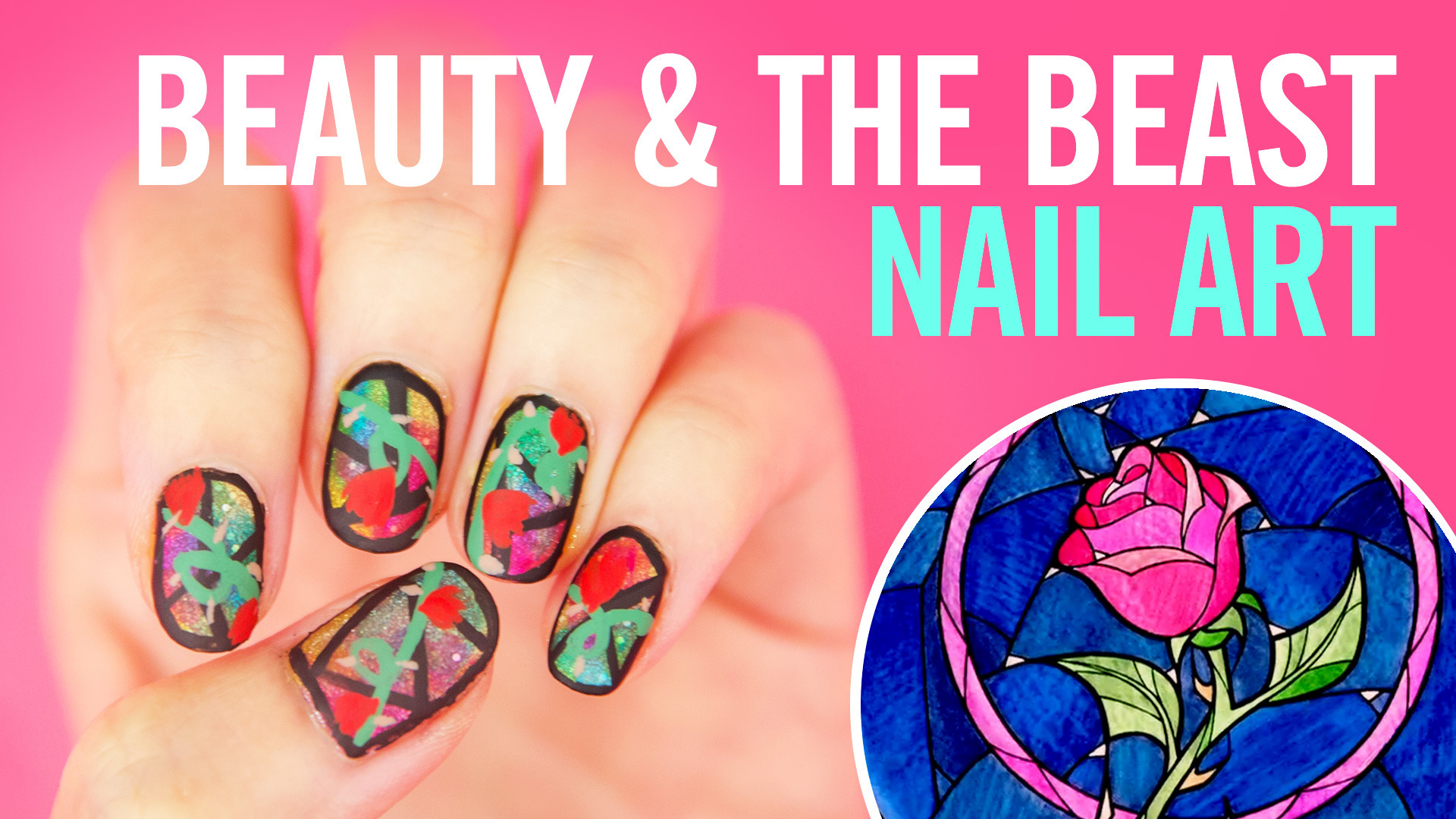 Beauty and the Beast Nail Art Tutorial