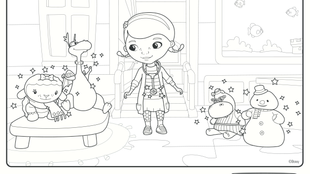 Doc Mcstuffins Coloring Pages Disney Junior : Stretching with doc mcstuffins coloring pages disney