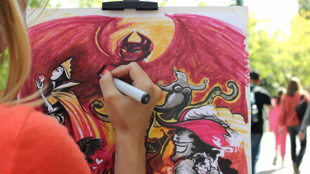 Mary Doodles Draws Her Villainous Disney Side