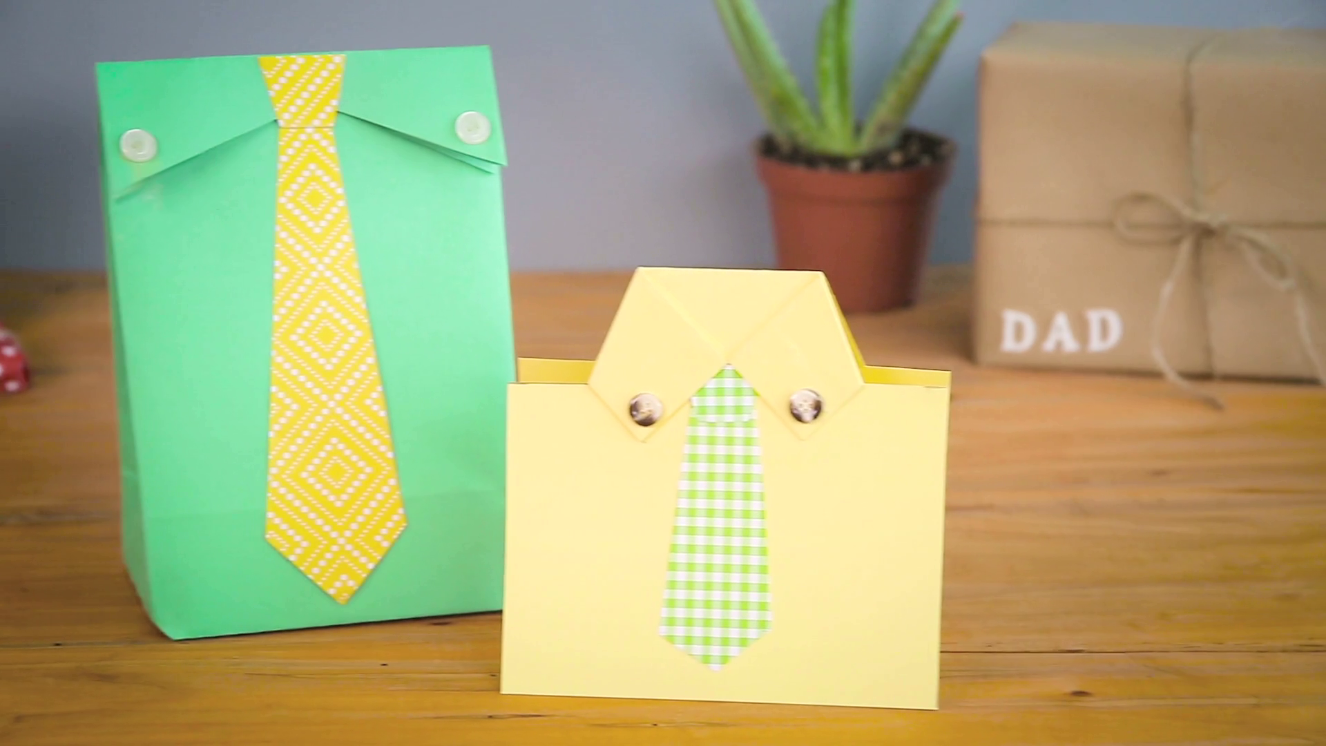 Father's Day Gift Bag and Card | Babble DIY