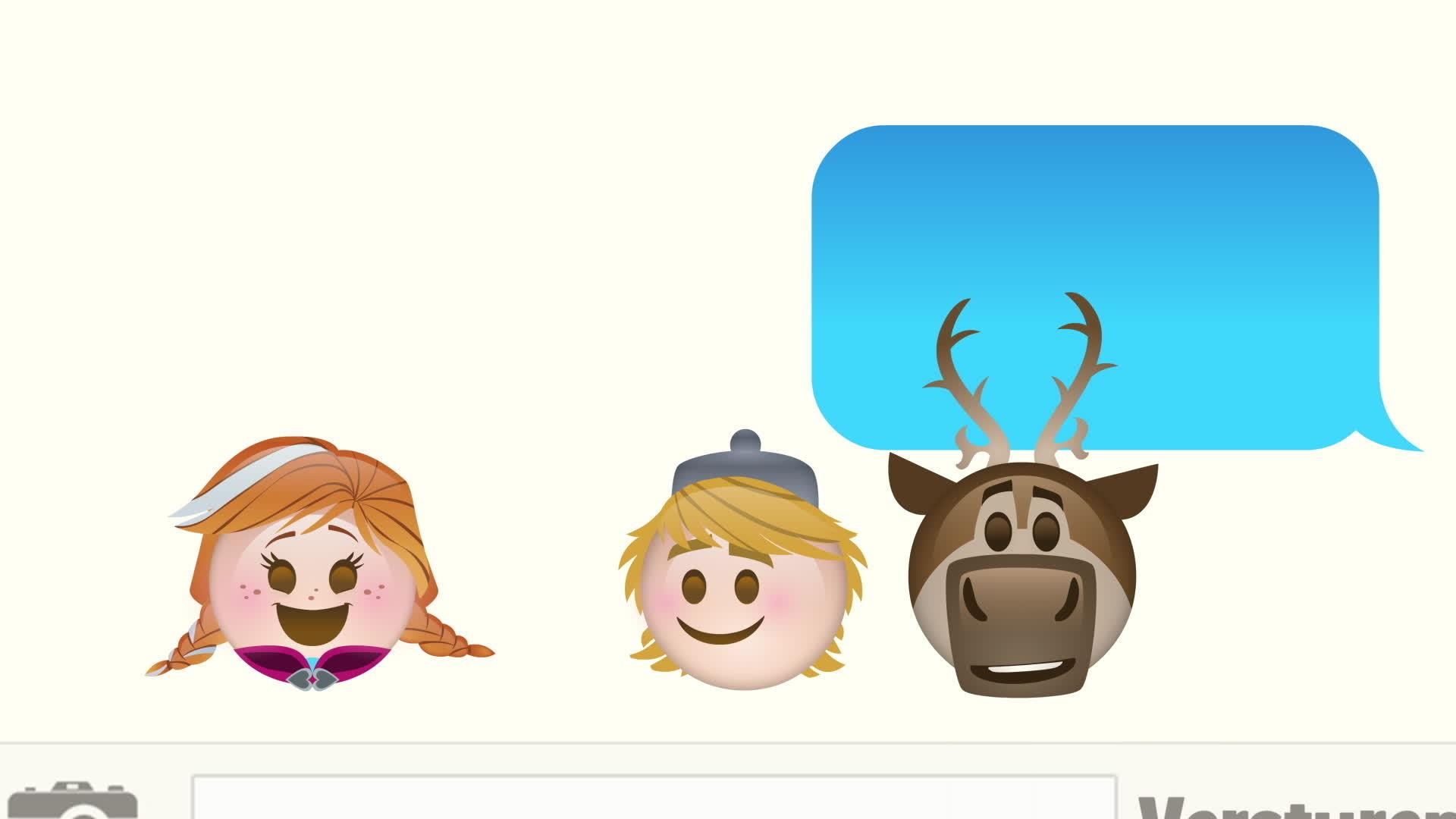 Frozen verteld door emoji