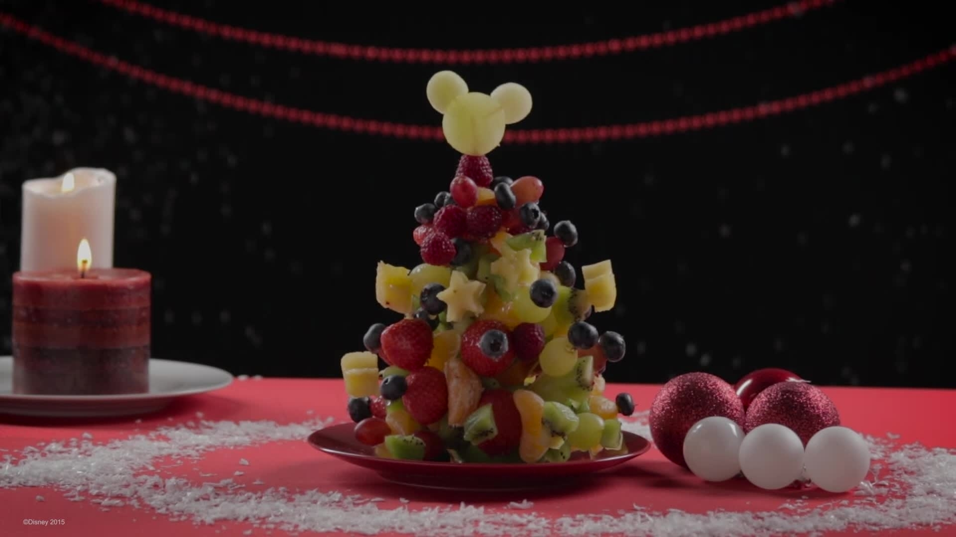 Disney Inspired – Mickey Fruit Christmas Tree