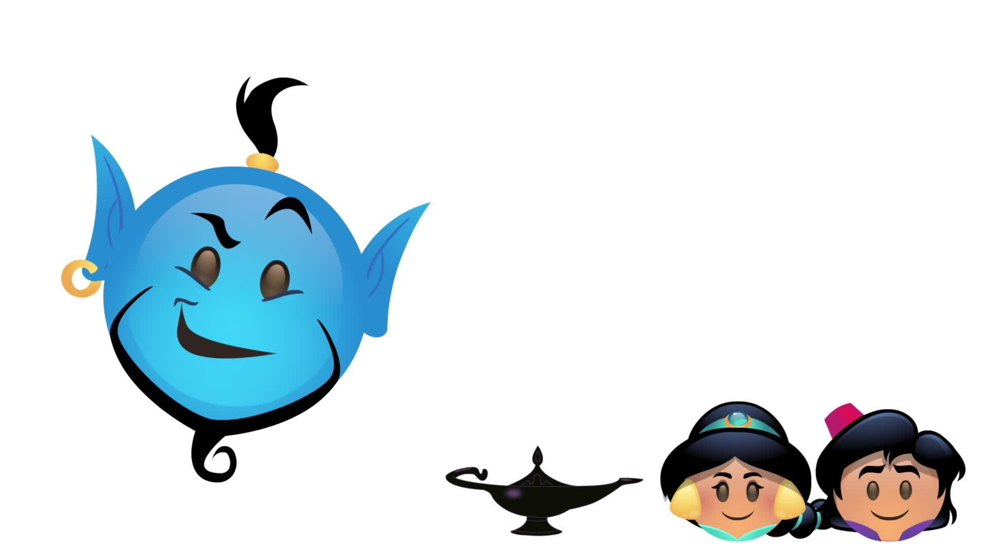 Aladdin verteld door emoji