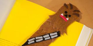 Star Wars Day Crafts: Felt Chewbacca Bookmark