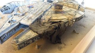 Fully Operational Fandom: Kelly Krider's Stunning Millennium Falcon-on-Jakku Diorama