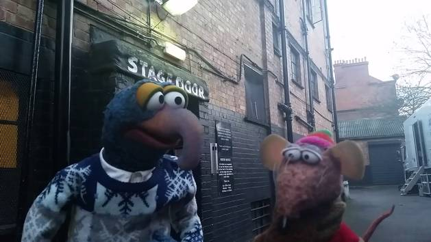 "Gonzo & Rizzo Backstage at ""A Christmas Cracker"" Special hosted by Bradley Walsh"