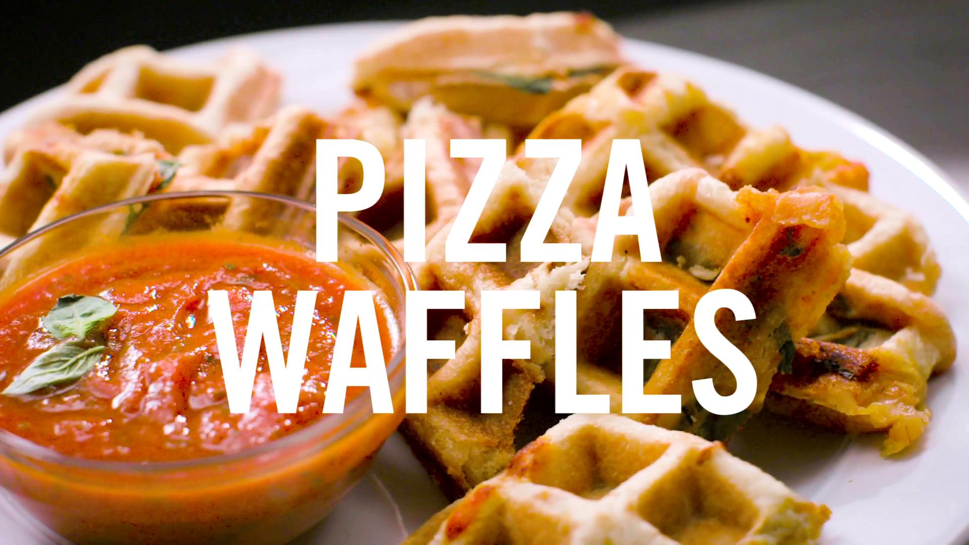 Pizza Waffle Bites | Babble Eats