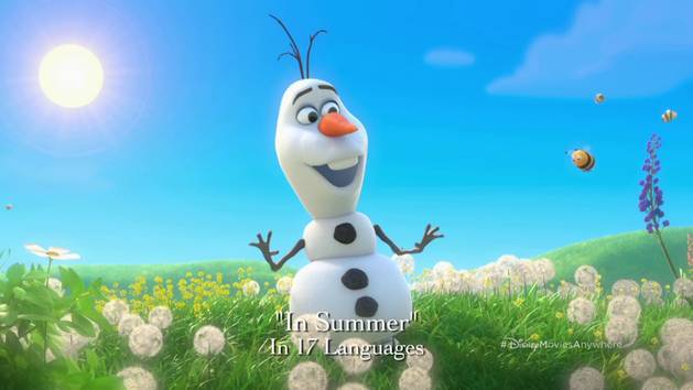 """In Summer"" in 17 Languages - Disney Movies Anywhere"