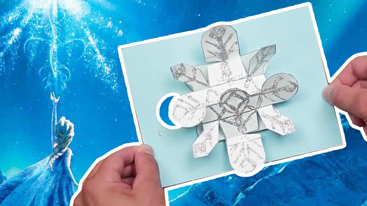 Frozen DIY Pop-Up Holiday Card | Disney Family
