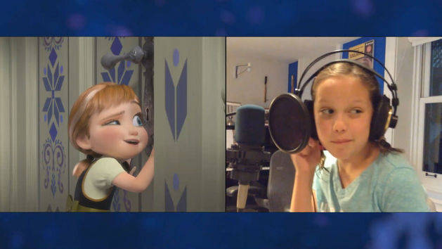 """Voices of Young Elsa & Anna"" Clip - THE STORY OF FROZEN: MAKING A DISNEY ANIMATED CLASSIC"
