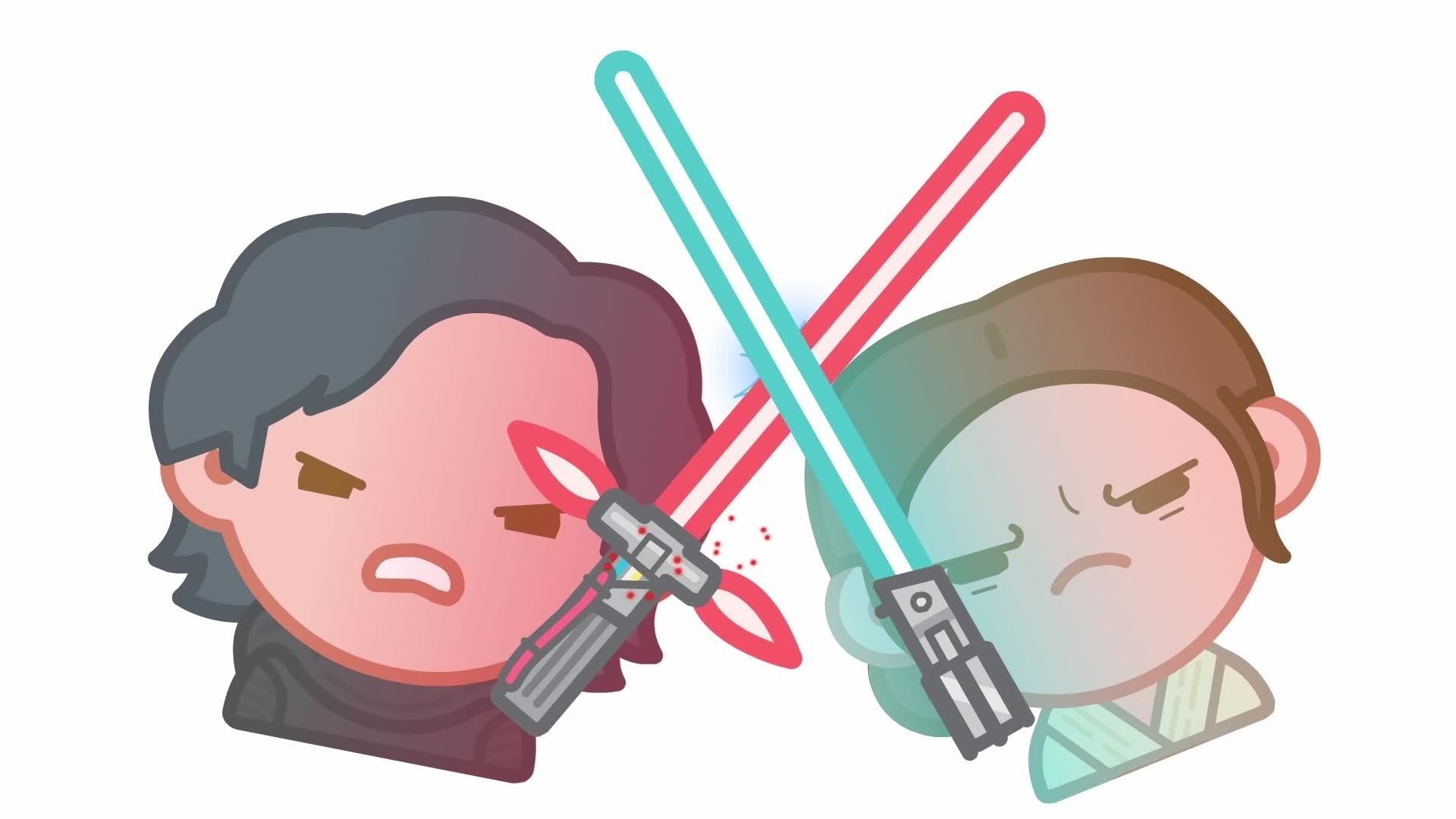 حرب النجوم: القوة تستيقظ كما تراها بالرموز التعبيرية