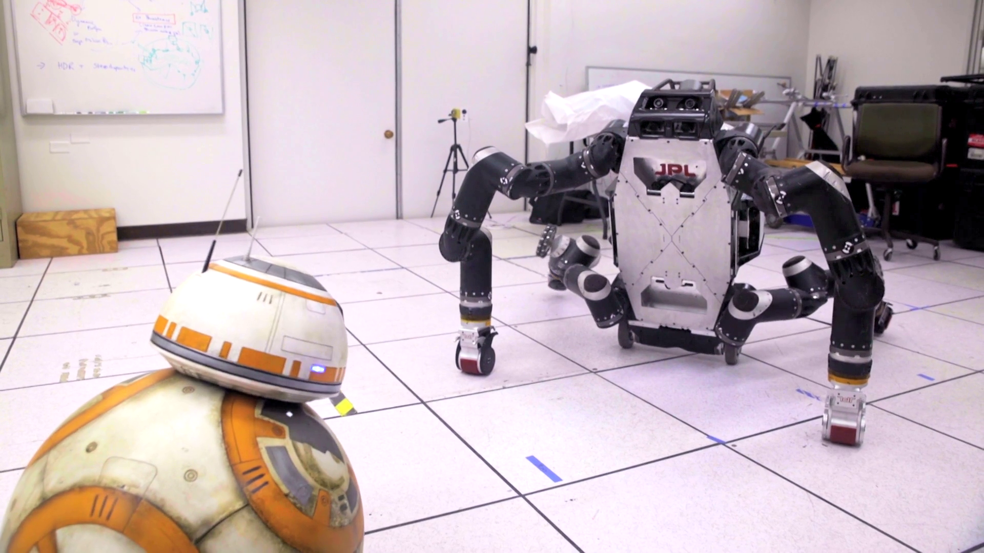 BB-8 Makes New Robotic Friends at JPL