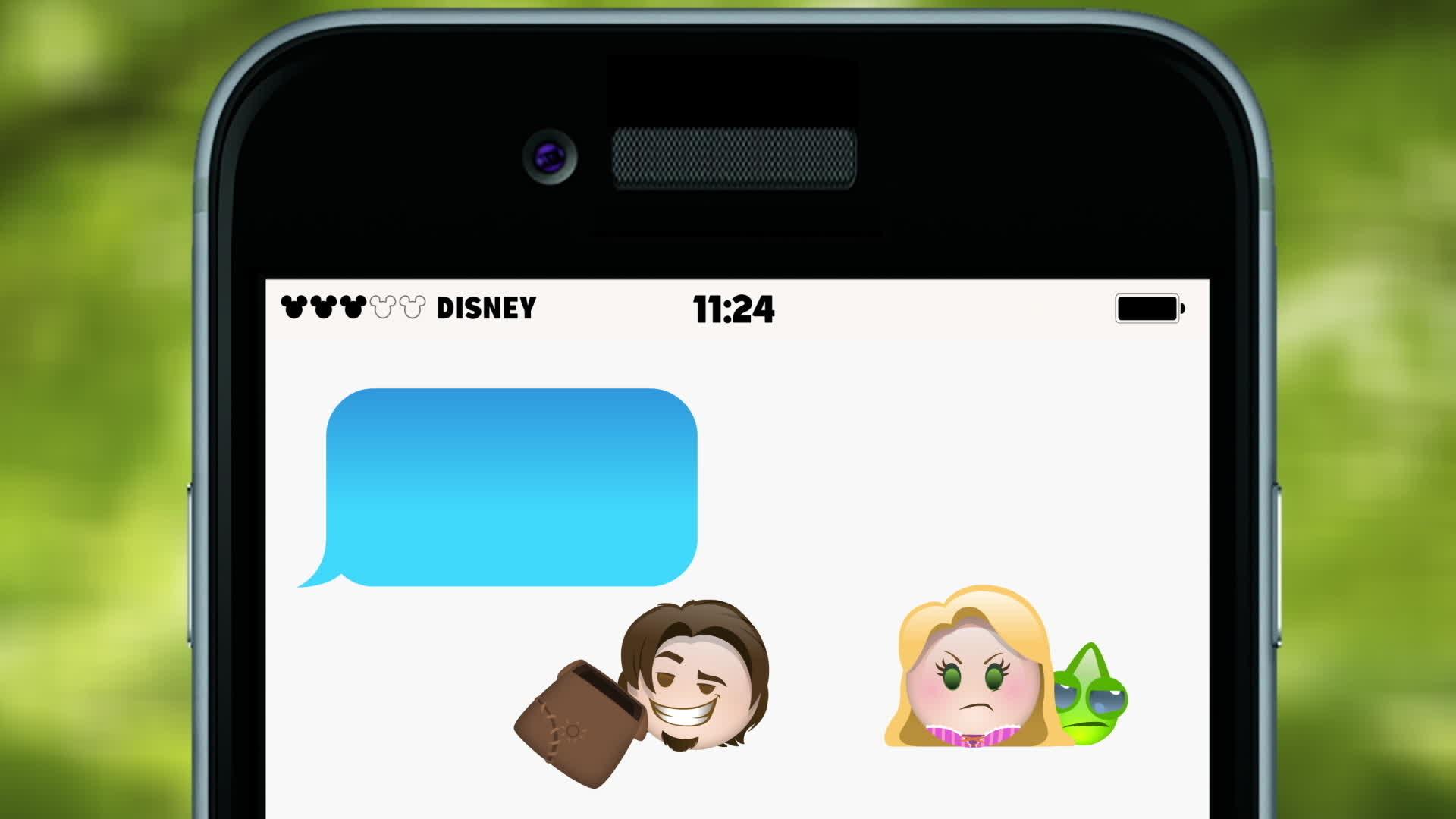 Rapunzel verteld met emoji