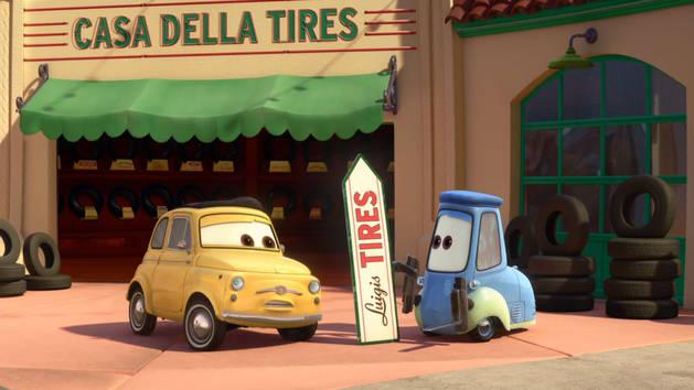 מכוניות מצוירות - סיבובים
