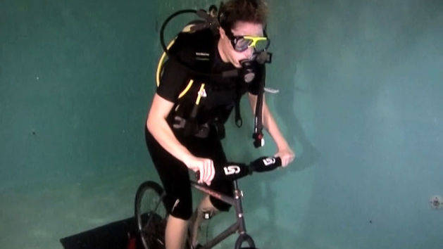 Underwater Scuba Cycling
