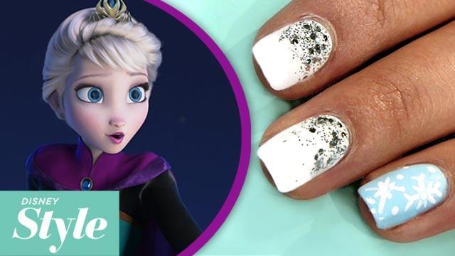 Frozen Inspired  Nail Art - Disney Style