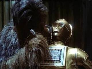 Chewbacca Repairs Threepio