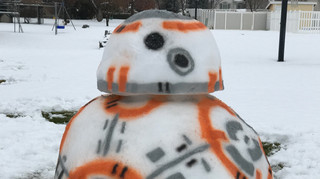 Most Impressive Fans: Tony and Gwen Francis' Awesome BB-8 Snowman