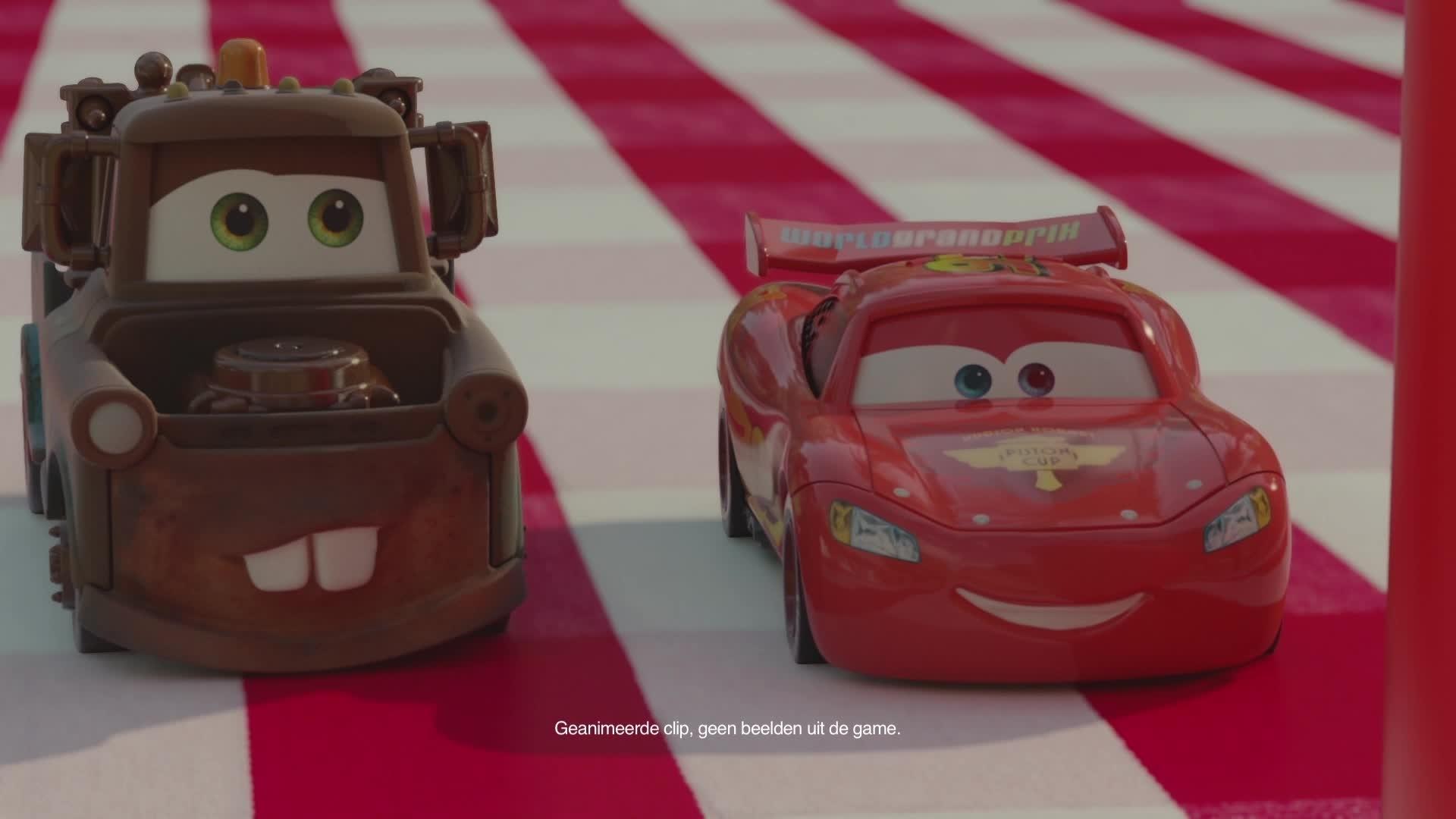 Cars Daredevil Garage - Testrit op de Picknicktafel