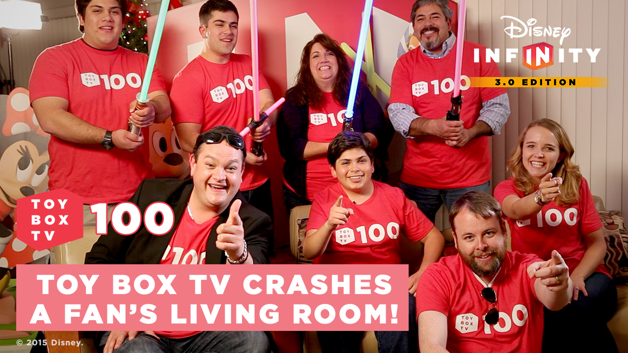 Ep. 100! - Toy Box TV Crashes a Fan's Living Room! - Disney Infinity Toy Box TV - Ep. 100 Special