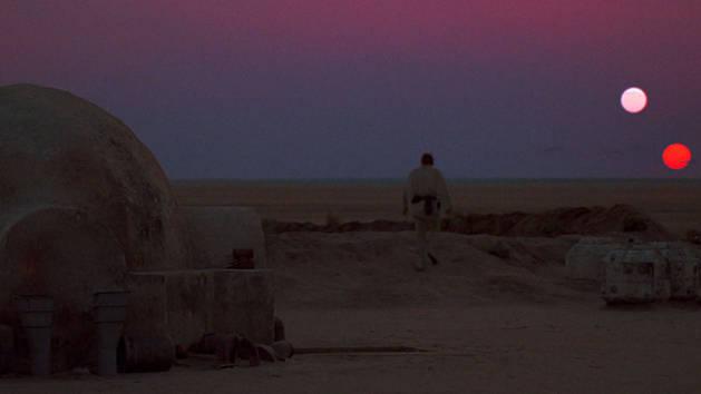 Star Wars - Luke ser solen gå ned